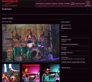 GUSTI HENDY JOIN TO CANOPUS DRUMS